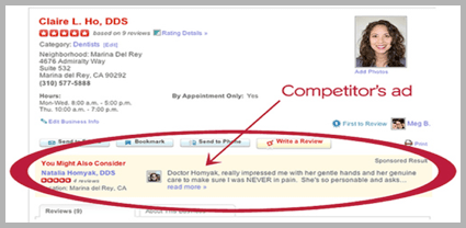 Claire L Hos - example of using customer reviews