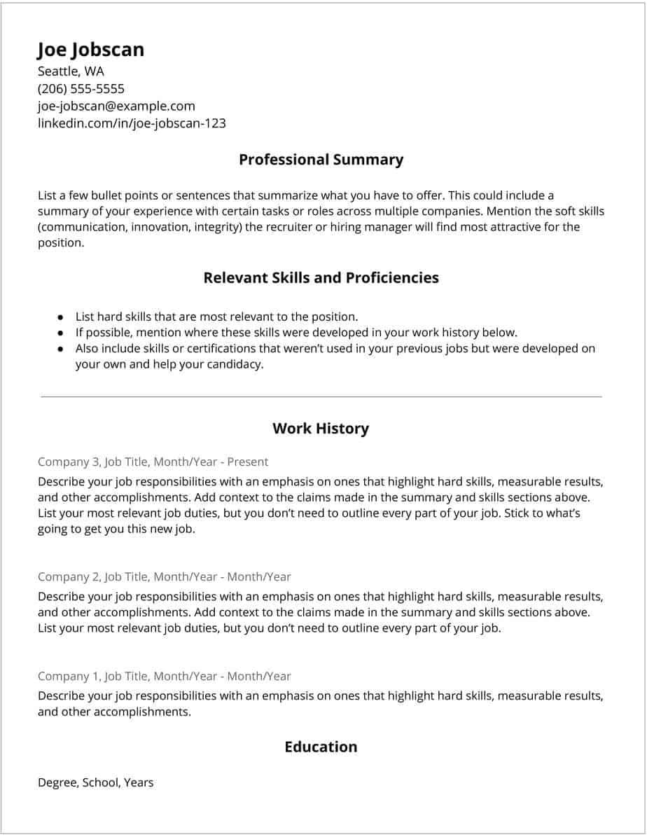 Hybrid Resume Template 1 11
