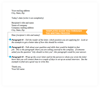 Cover Letter Templates From Jobscan