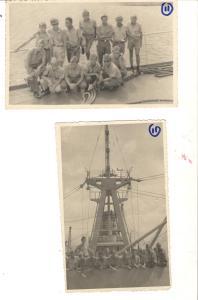 Alunos realizando a viagem de instrução, a bordo do navio Custódio de Melo, da Marinha do Brasil (1963)