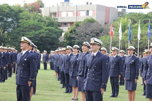 Turma Uno Meia em sua Cerimônia de Incorporação à Marinha do Brasil (Foto: Al. Renata / Jornal Pelicano)