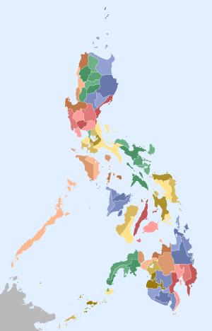 Mapa das Filipinas. (Imagem: Google Imagens)