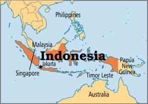 Mapa da Indonésia. (Imagem: Google Imagens)