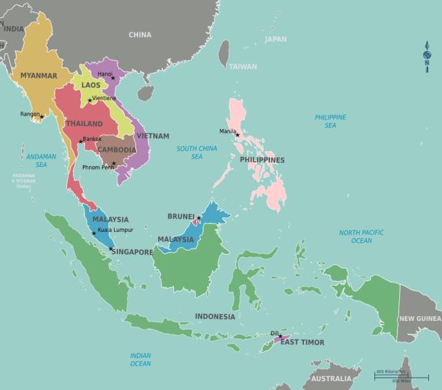 Malásia, Filipinas e Indonésia (Imagem: Google Imagens)