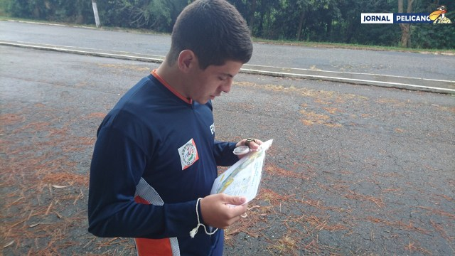 Aluno Aurélio da EFOMM durante a prova.(Al. Collares / Jornal Pelicano)