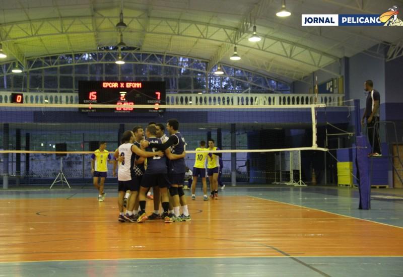 EFOMM comemora um de seus pontos. (Foto: Al. Leticia / Jornal Pelicano)