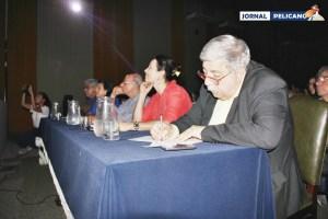 Banco dos ilustres jurados no FIC 2016. (Foto: Al. Anna Viriato/ Jornal Pelicano)