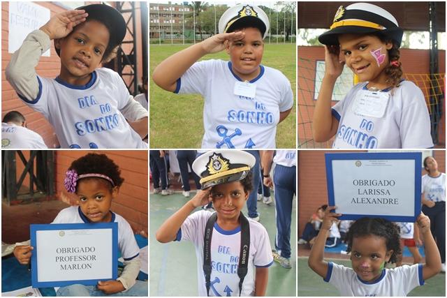 Crianças da Casa das Crianças no Dia do Sonho. (Montagem: Jornal Pelicano)