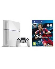 PlayStation 4 - 500GB - White + PES 2015 Game Disc