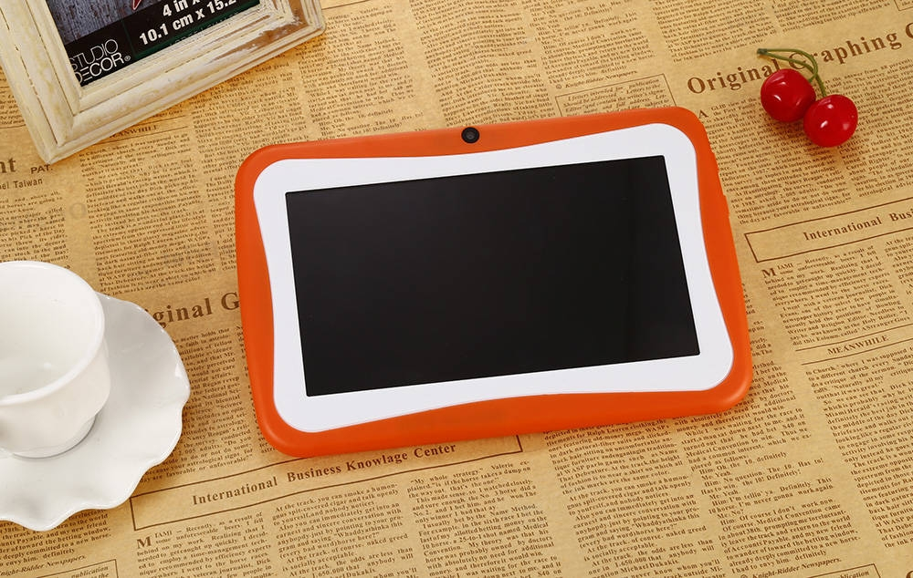 120a6b101ac568486d4f4e4131602096 BDF Q768   7 Kids Tablet PC Android 4.4 512MB/8GB 0.3MP OTG G Sensor EU   Orange
