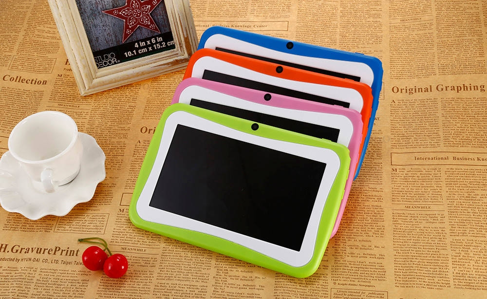 46675d38e4cc86d676fd66e90554ac30 BDF Q768   7 Kids Tablet PC Android 4.4 512MB/8GB 0.3MP OTG G Sensor EU   Orange