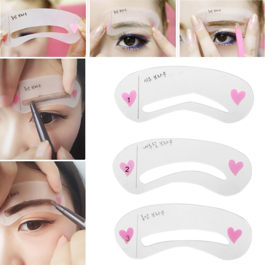 3ffa406d3e3e1a0530a470b4e7303511 Fashion 3 Styles Brow Class Drawing Guide Eyebrow Template Make Up Tools Grooming Stencil Kit Shaping DIY Beauty