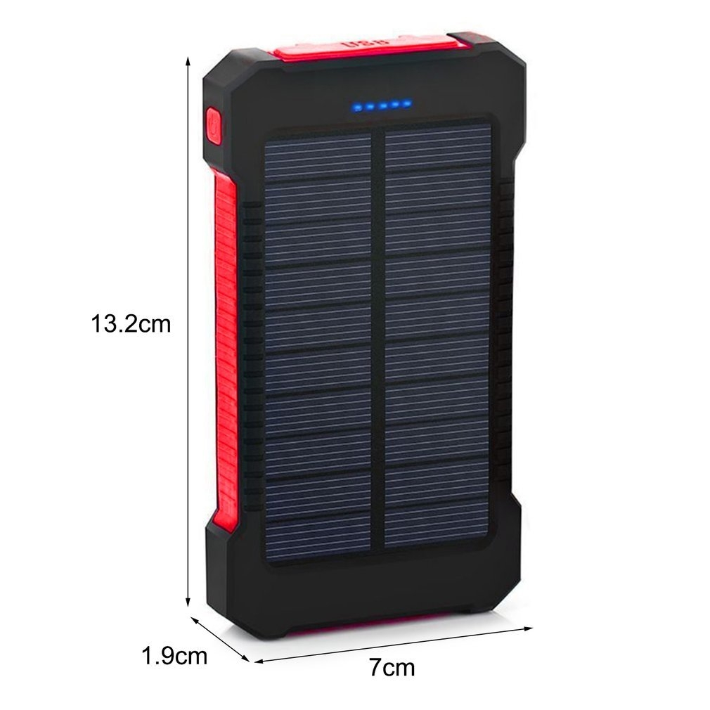 290c0a937994363f46109ef06c2e1c6d Generic TA 300000mAh Dual USB Portable Solar Battery Charger Universal Solar Power Bank*Red