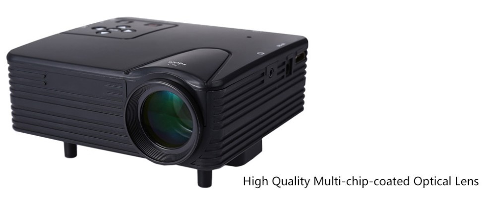 H80 Portable 640 x 480 Pixels Full HD LED Projector Video Home Cinema