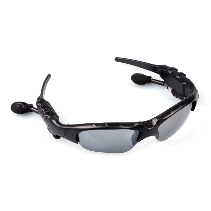 9b3d1b307464a300491f1a8613a02cc2 Generic Headset Bluetooth Sunglasses Mono Headset Handsfree Sunglass Headphone For Cell Phone Black