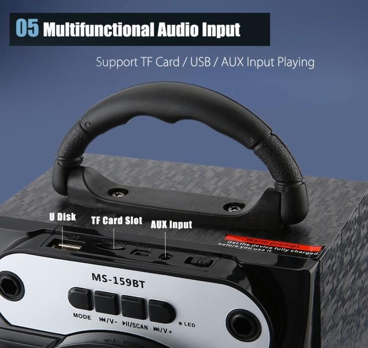 Generic MS 159BT   Wireless Bluetooth Speaker With High Power Output & FM Radio   Black price in Nigeria