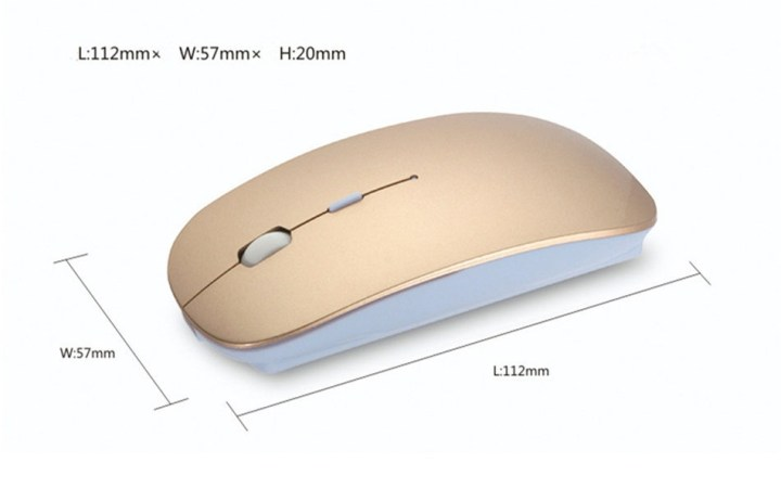 Generic Bluetooth Mouse USB Bluetooth 4.0 Wireless Mouse Mice Mute Silent Click Mini Noiseless Optical Mouse 1200 DPI For PC Laptop(Silver) price in Nigeria