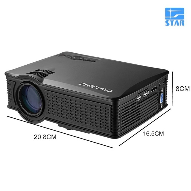 Generic Owlenz SD50 Plus Multimedia Portable Mini LED Projector 800*480 Home Theater PC USB HDMI AV VGA SD For Home Cinema price on jumia Nigeria via specspricereview.com