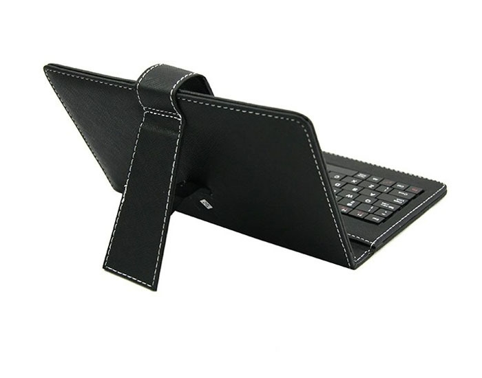 6f6303c34890c02c26800807685c290f Generic Tcetoctre 7 Inch Leather Case Cover USB Keyboard For Android Windows Tablet  Black