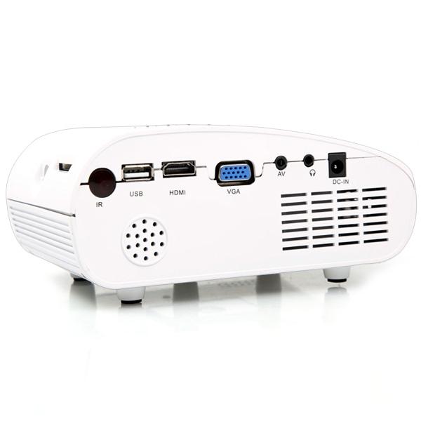 Generic H60 LCD Projector 60 Lumens 480 X 320 Native Resolution 16:9 Aspect Ratio Supports HDMI USB VGA IR SD Card ( EU Plug ) BLACK price on jumia Nigeria via specspricereview.com