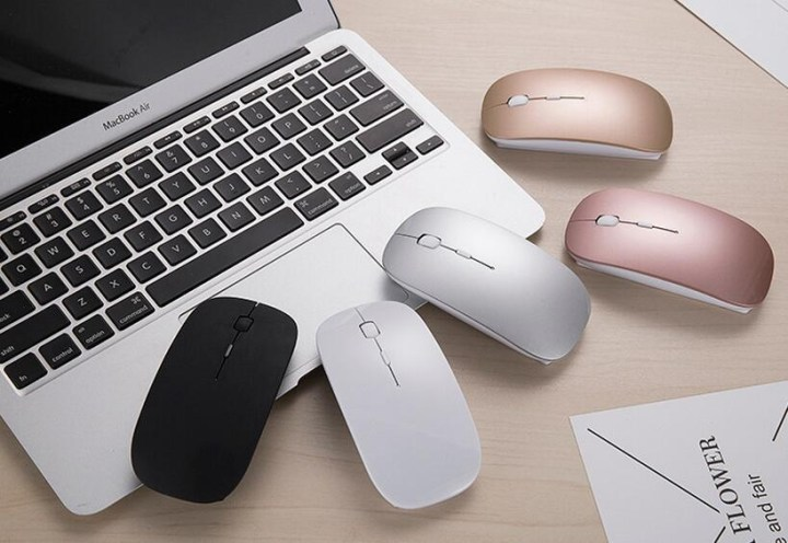 Generic 2.4G Wireless Mouse Rechargeable Bluetooth Mice For Dell/Hp/Lenovo Ideapad 710s/Acer/Asus Silent Mouse With 3 DPI For PC/Laptop(White) price in Nigeria
