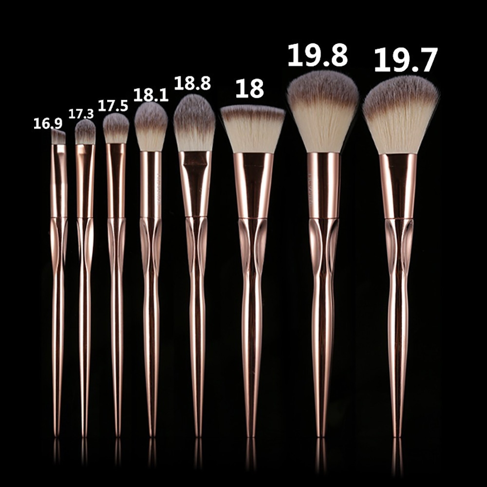 505aa8c0ba506c8d6324c02a28d87f65 Generic 8Pcs/set Makeup Brush Set Tools Make up Toiletry Wool Make Up Brush Set  Gold