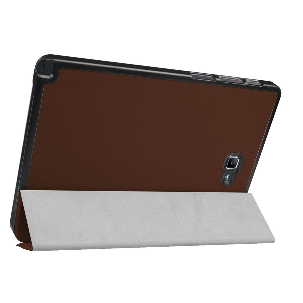 6eb951624a5db97c92a21fab96006ba8 Generic Case Flip Leather Case Cover Holder For Samsung Galaxy Tab A6 10.1 P580 Inch BW Brown
