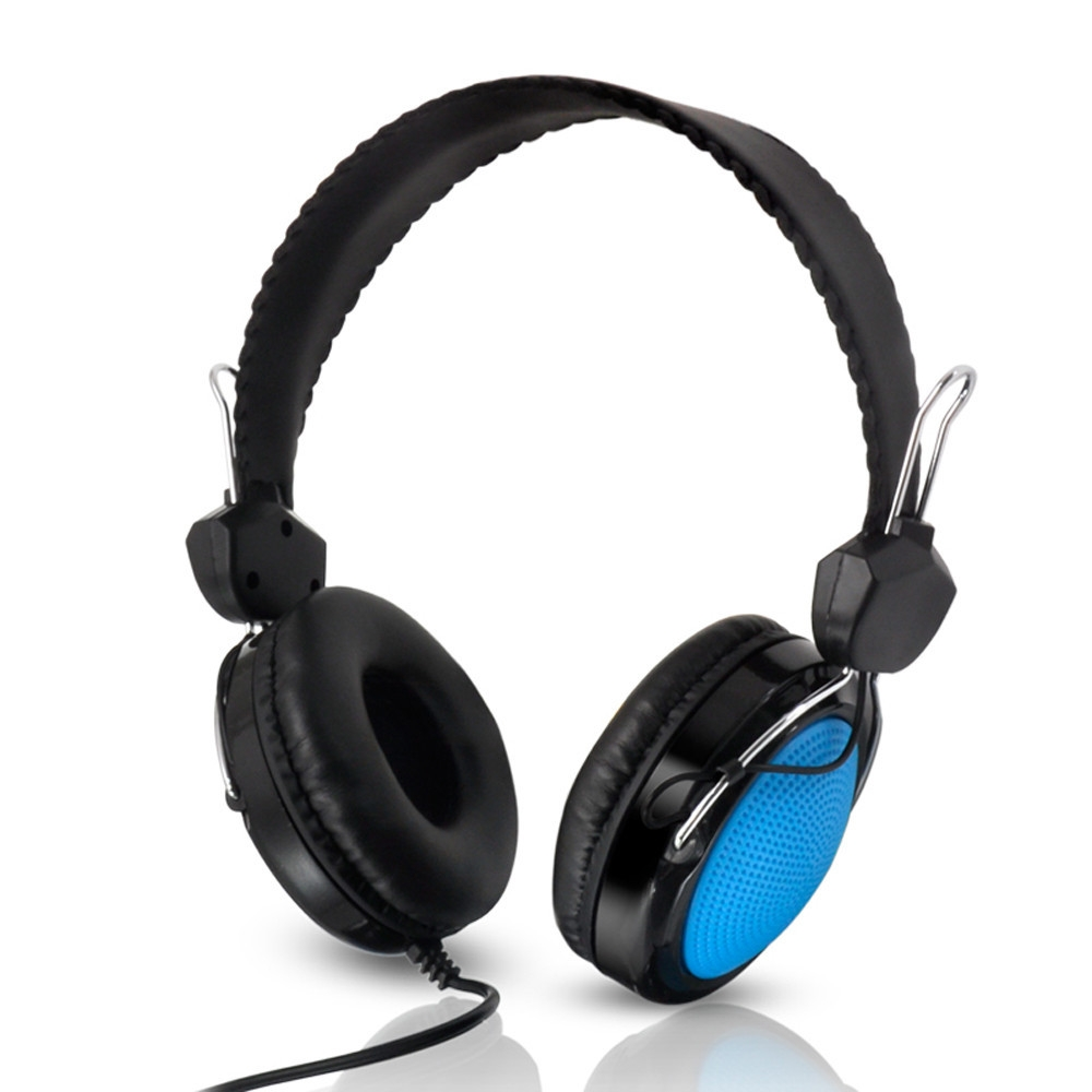 6b674814c327122d612c0f5a89b0d637 Generic Tcetoctre T 420 Mic Control Wired Stereo HiFi Music Computer Headset BU  Blue