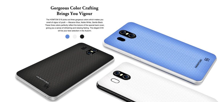 197cc7a6395596cf375eea164ca6cf54 Homtom S16   5.5 3G 2GB/16GB Android 7.0 3000mAh Fingerprint EU   White