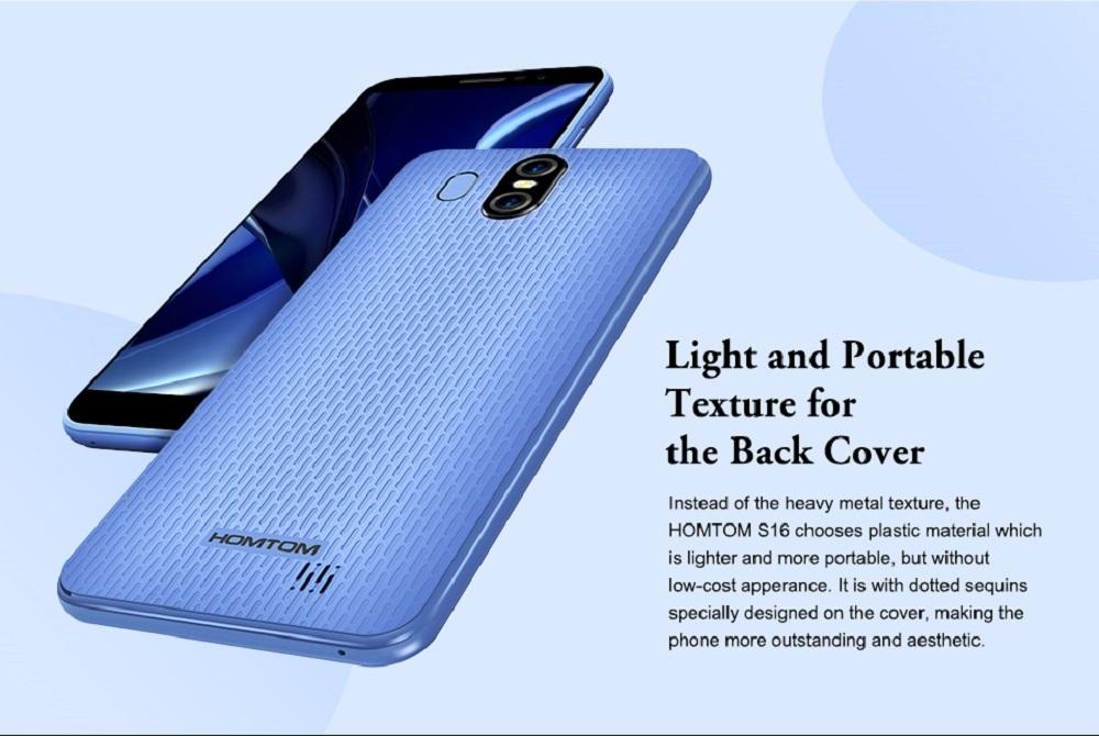 7dac205f72b506d026ad73380a0043b5 Homtom S16 5.5 Inch HD (2GB,16GB ROM) Android 7.0 Nougat, (13.0MP + 2MP) + 8.0MP Dual SIM Smartphone   Black