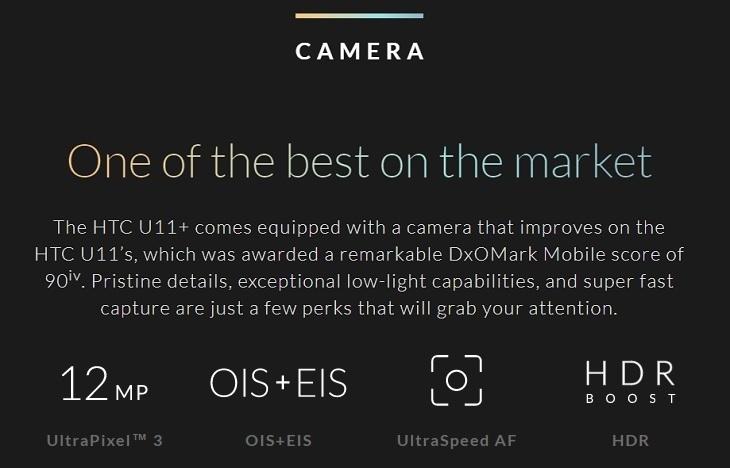 f7e8d6f6ab8573218b6f27ef1b6a48ed HTC U11 Plus (U11+) 6 Inch QHD (6GB,128GB ROM) Android 8.0 Oreo, 12MP + 8MP Dual SIM 4G Smartphone   Translucent Black