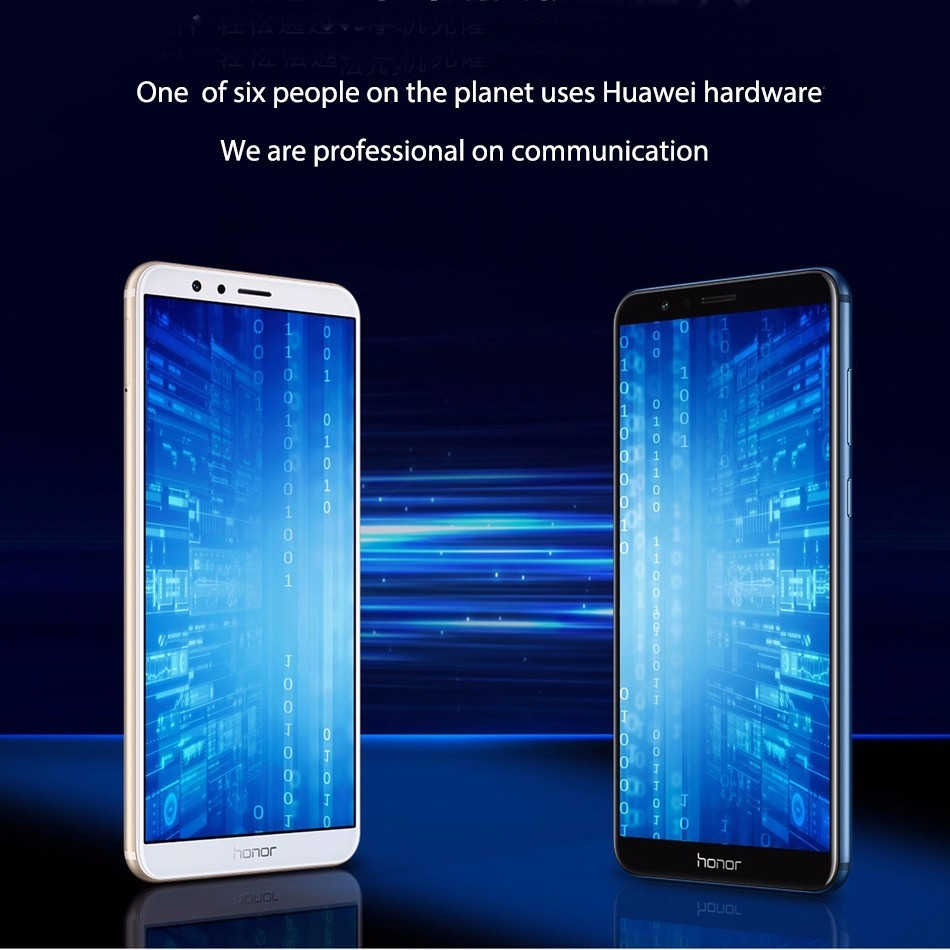 Huawei Honor 7X 4G Phablet 5.93 Inch Android 7.0 4GB RAM + 32GB ROM Dual Rear Cameras BLUE price in nigeria