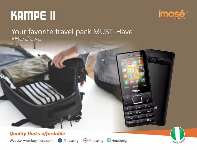 iMose Kampe II 5,000 MAh Power Bank/Dual SIM GSM Phone + Wireless FM Radio   Black price in Nigeria