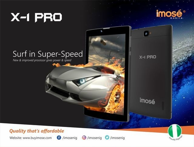 iMose X 1 Pro Quad Core 1.2GHz 7 (3G, WiFi, 1GB, 8GB HDD, 8MP Camera, Dual Sim) Android Tablet   Gold price in Nigeria