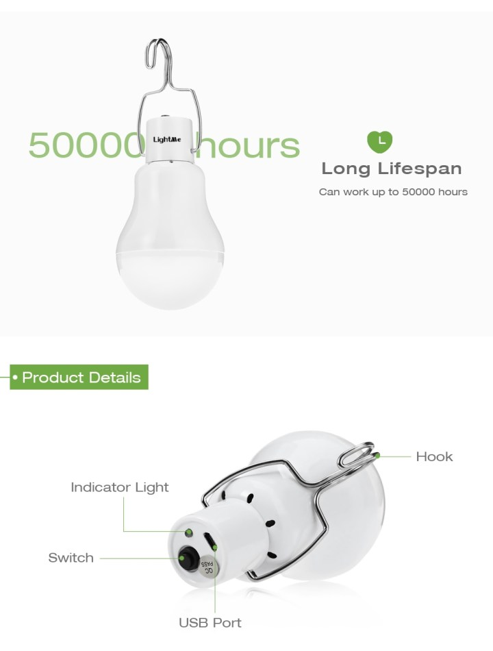 S   1200 Solar Powered LED Bulb Light price in Nigeria