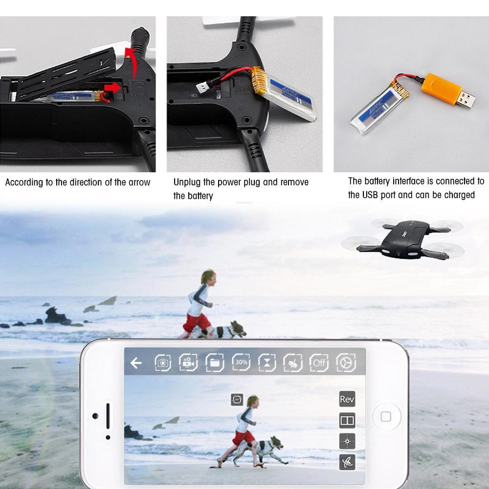 495cc1b88fc654f912682c09fbd2fb58 Louis Will Foldable Pocket Selfie Quadcopter Drone With Camera, JJRC H37 Elfie 720P HD Wifi FPV Altitude Hold Headless Mode Phone Control RC Quadcopter