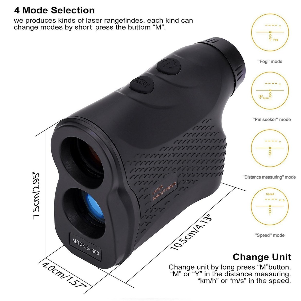 545a2fb1118796825696078fd4b62870 Louis Will DEKO Laser Rangefinder For Hunting And Golf   Laser Range Finder With Fog ,Scan, Speed Measurement, Free Battery