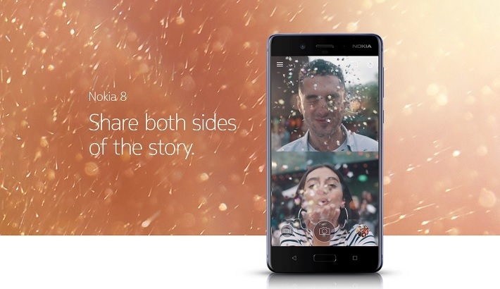 da4026b87feef72538baaa9260c3e3d3 Nokia 8 5.3 Inch (4GB,64GB ROM) Dual 13MP + 13MP, Android 7.1 Nougat Dual SIM 4G Smartphone   Steel
