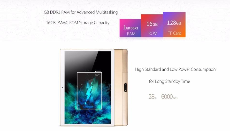 Onda 4G Phablet 10.1 Inch Quad Core 1GB RAM 16GB Dual Cameras