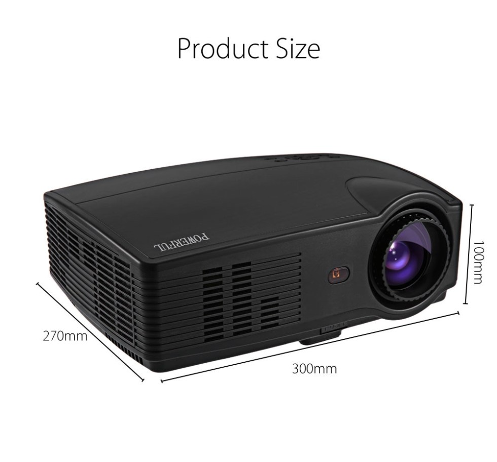 POWERFUL SV - 328LH LCD Projector 3000 Lumens 1280 x 800 Pixels with VGA HDMI USB for Home Office Education