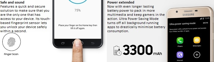 Galaxy J7 prime on jumia 3300mah battery