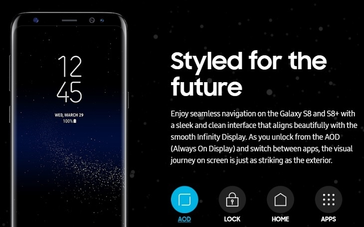 Samsung Galaxy S8 5.8 Inch QHD (4GB,64GB RAM) Android 7.0 Nougat, 12MP + 8MP LTE Dual SIM Smartphone   Maple Gold price in Nigeria