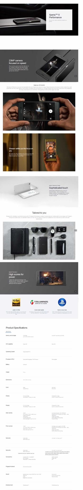 Sony Xperia X Performance Dual Sim (3GB. 64GB)   Black price in Nigeria