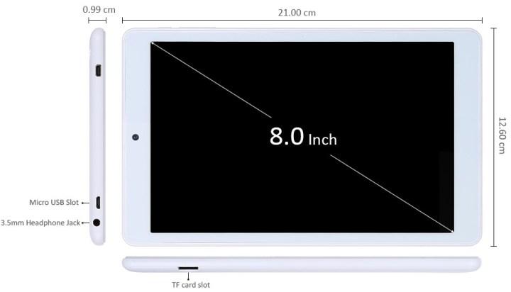 TECLAST Teclast P80h Tablet PC MTK8163 64bit Quad Core 1.3GHz 8 Inch WXGA IPS Screen Android 5.1 8GB ROM Dual WiFi Cameras OTG HDMI price in Nigeria