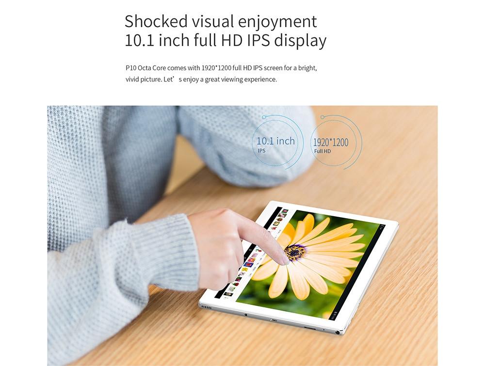731f02dbca5418d86bd477bd6d4b7d83 TECLAST P10   10.1 Tablet Android 7.1 2GB/32GB OTG 5200mAh   White