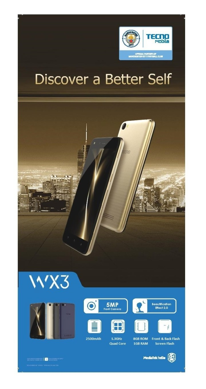 Tecno WX3 (5 Inches,1GB RAM ,8GB ROM, 2500MAh, Front Camera 5MP, Back Camera 5MP) + 360 Degree Protective Case With Free Glass  Grey price in Nigeria