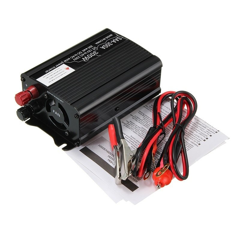 0e579a2402d6b8b41da471ea369c26d8 Universal Solar Power Inverter 300W Peak 12V DC To 220V AC Modified Sine Wave Converter