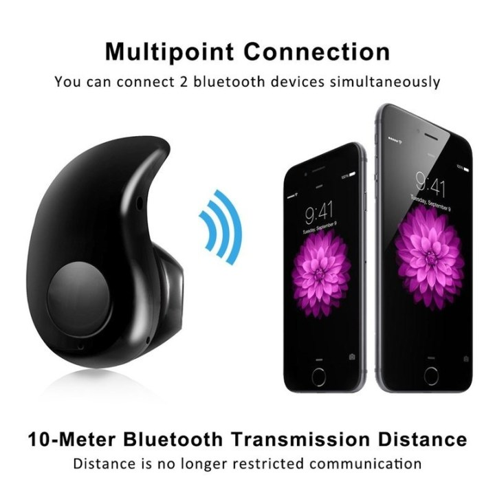 Universal Bluetooth 4.1 Wireless Headphone Headset Mini Invisible Earpiece S530 Earphone & Gold OTG Micro USB For Android  Black price in Nigeria