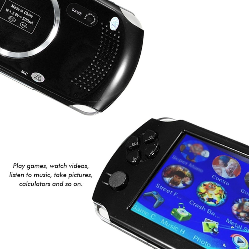 5e4e457f41ff7be6031e5665c610d0ce Universal A15 Rechargeable 5.0 8G Handheld Video Game Console MP4/MP5 Player With Camera Red