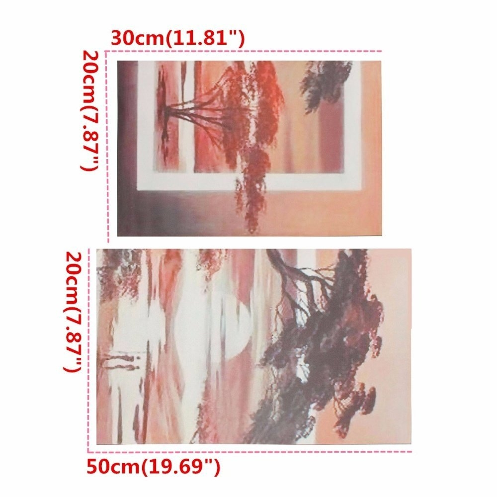 Universal 20 X 30cm&20 X 50cm Large Modern Abstract Pine Sunset Art Oil Painting Wall Decor Canvas NO Frame price in Nigeria